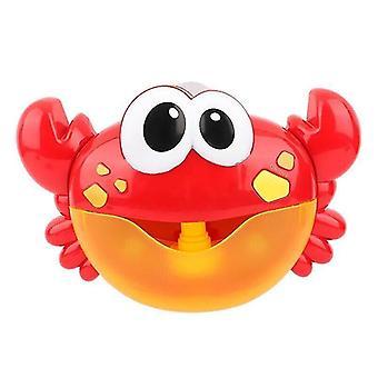 Bath toys baby bath toys bubble machine crabs frog music kids bath toy bathtub soap automatic bubble maker