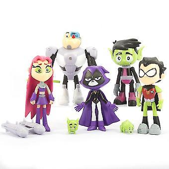 7pcs Teen Titans Figure Toy Collection Modèle Enfants Cadeau