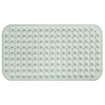 Non-slip, Mildew-proof, Environmentally Friendly And Tasteless Bathroom Mat, Bathroom And Kitchen Floor Mat, Massage With Suction Cup  White-cream (79