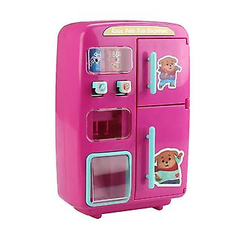 Simulator Refrigerator Water Dispenser Pretend To Play Kitchen Toy Gift Pink Kitchen Toy Gift With Cooking Game