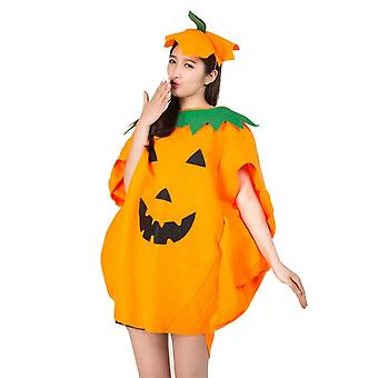 2018 Neue Party Supply Cosplay Halloween Kürbis Kostüm Erwachsene Kind Stoff Hut Anzug Fancy Umhang Kürbis Für Familien Party Outfits