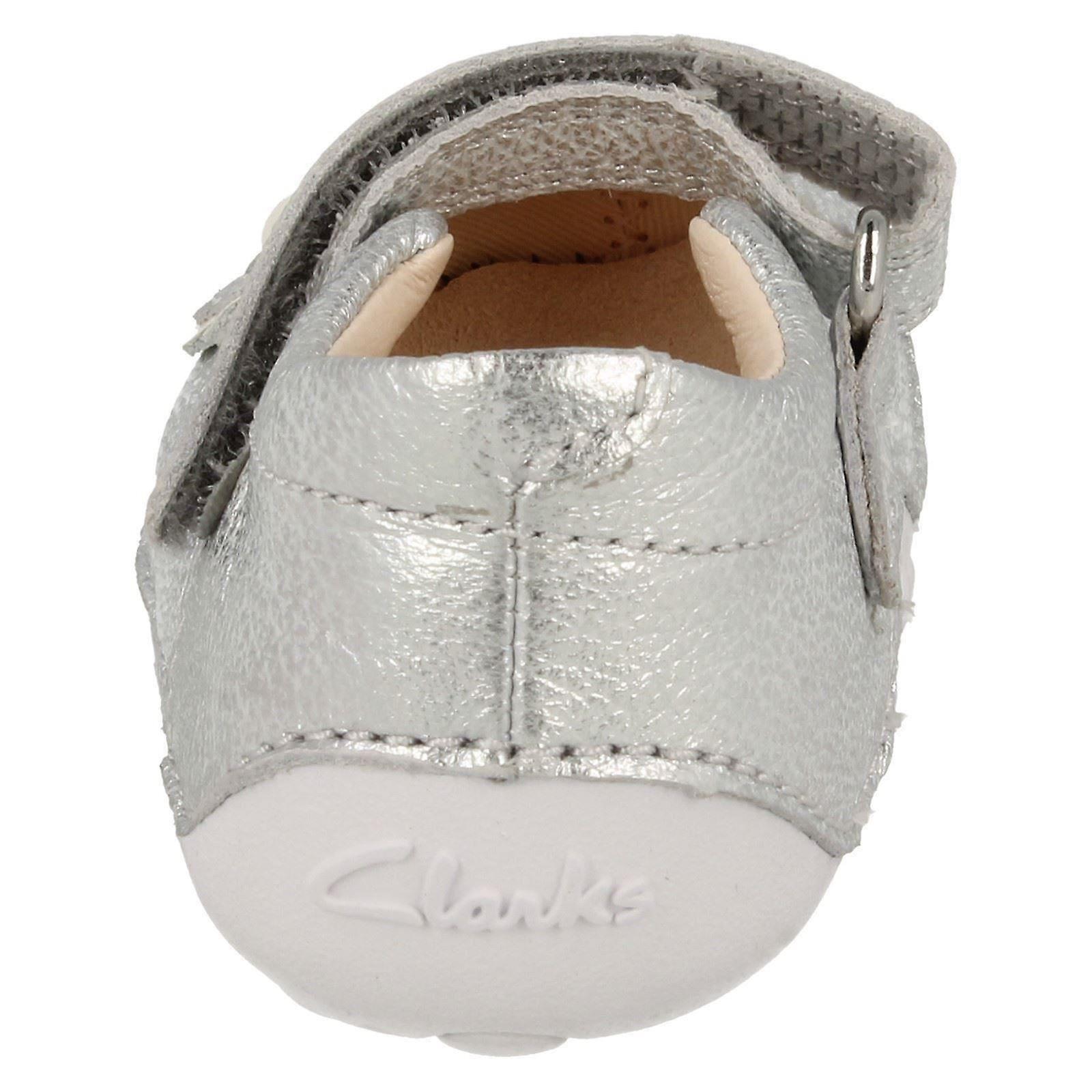 Noworodków Girls Clarks pierwszy krążownik buty trochę Mia