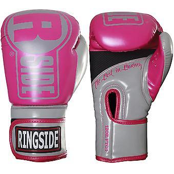 Gants de sac boxe Ringside Apex Fitness - rose/gris