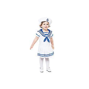 Matrosenkostüm Marine Matrose Kostüm für Mädchen 2-3 Jahre Gr. 104 T2