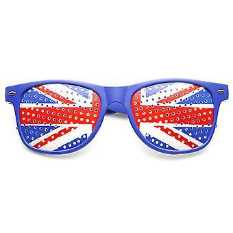 القرن الملونة انعقدت بريطانيا العظمى المملكة المتحدة العلم البريطاني الجدة النظارات الشمسية
