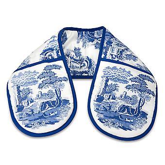Portmeirion blauw Italiaanse dubbele Oven handschoen