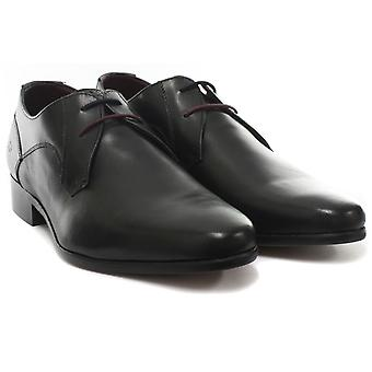 London Brogues Axton Derby Black Mens Lace Up Shoes