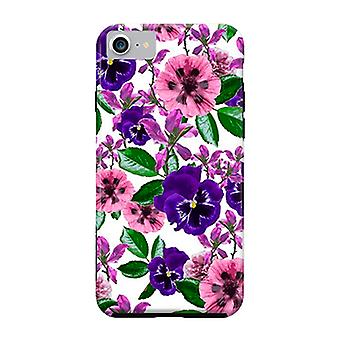 ArtsCase Designers Cases White Floral Garden for Tough iPhone 8 / iPhone 7