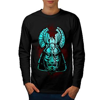 Fantasy Katana Warrior Men BlackLong Sleeve T-shirt | Wellcoda