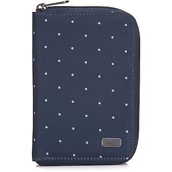 Pacsafe RFIDsafe Daysafe Passport Wallet - Navy Polka Dot