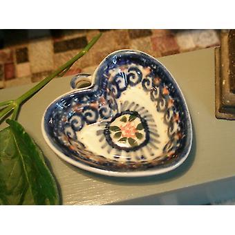 Herz, Miniatur, Unikat 3, Bunzlauer Keramik - BSN 2686