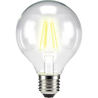 Sygonix LED (monochroom) EEC A++ (A++ - E) E27 Globe 7 W = 60 W Warm wit (Ø x L) 80 mm x 115 mm Filament 1 pc(s)