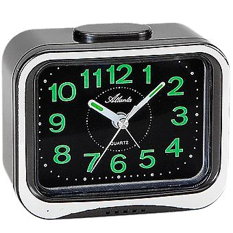 Atlanta 1940/7 alarm clock quartz analog anthracite with Bell signal luminous hands