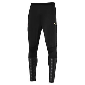 2018-2019 AC Milan Puma Pro Fitted Training Pants (Black)