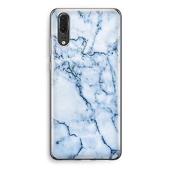 Huawei P20 Transparent Case (Soft) - Blue marble