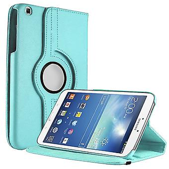 Unlimited Cellular Multi-Angle 360 Stand Folio Case for Samsung Galaxy Tab 3 (8.0) - Light Blue
