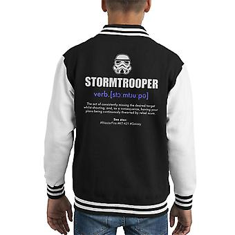 Original Stormtrooper Wörterbuch Definition Kid Varsity Jacket