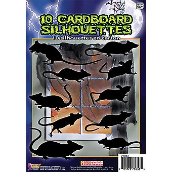 Bnov Silhouette Shadow Rats 10Pc