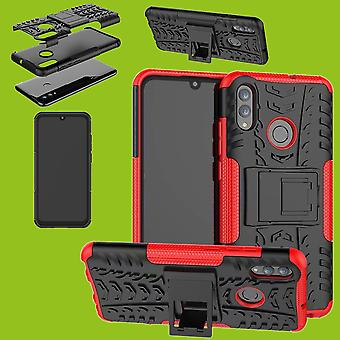 For Huawei P Smart and Plus 2019 Hybrid Case 2-piece Outdoor Red Bag Cover Protection