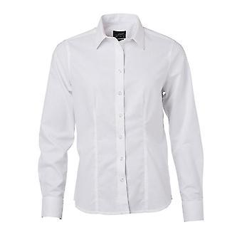 James and Nicholson Womens/Ladies Longsleeve Oxford Shirt