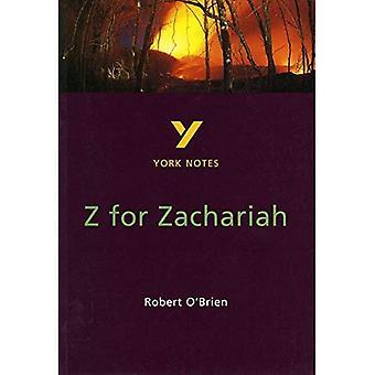 York Notes sur z de Robert O'Brien pour Zachariah