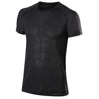 Chemise à manches courtes laine soie Falke - gris Anthracite