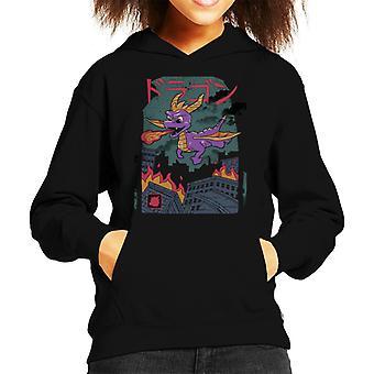 Spyro The Dragon Kaiju Kid de Hooded Sweatshirt