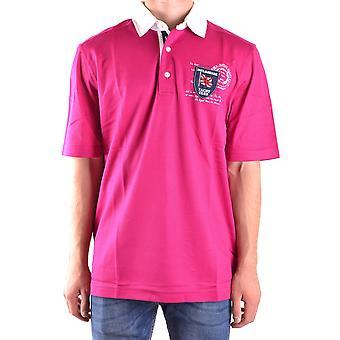 Paul & Shark Ezbc042012 Men's Fuchsia Cotton Polo Shirt