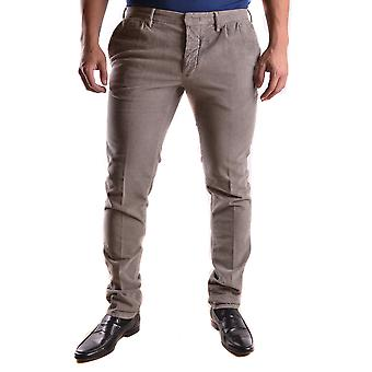 Incotex Ezbc093021 Men's Brown Cotton Pants