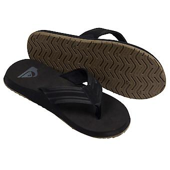 Quiksilver Mens Monkey Wrench Sandals - Black/Gray/Tan