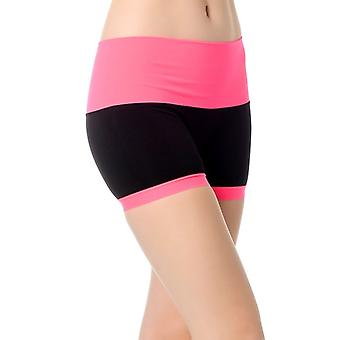 Guillaume - Womens-mahe - Black et Neon Pink - Short Active sans soudure