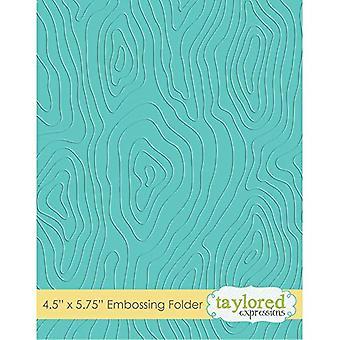 Taylored Expressions Woodgrain Embossing Folder