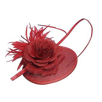 Intrigue Womens/Ladies Rose Linen Look Fascinator