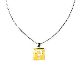 Super Mario Bros. Question Block Charm Necklace