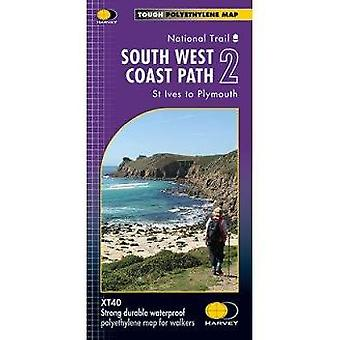 South West Coast Path 2 XT40 - St Ives to Plymouth - 9781851375554 Book