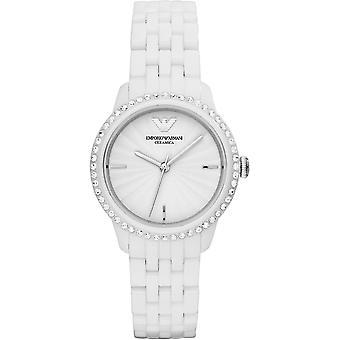 Emporio Armani Ar1477 Ladies bianco cristalli ceramica Watch