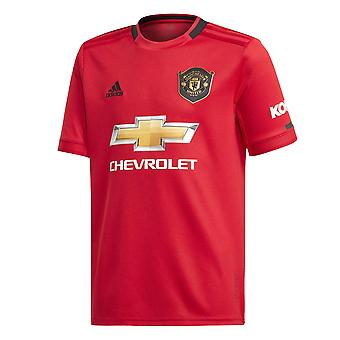 Adidas Manchester United 2019/20 Kids Short Sleeve Home Football Shirt Red