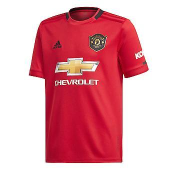 Adidas Manchester United 2019/20 Kids lyhythihainen Etusivu jalka pallo paita punainen