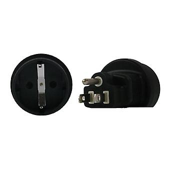 Schuko a US 3 pin adaptador de enchufe
