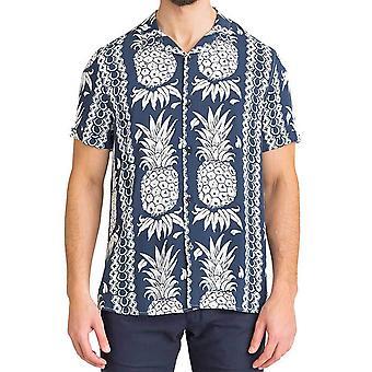 猜猜男士夏威夷印花短袖衬衫