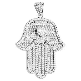 Premium Bling - 925 sterling silver Pendant Hamsa