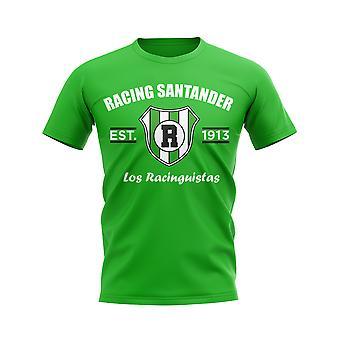 Racing Santander Established Football T-Shirt (Green)