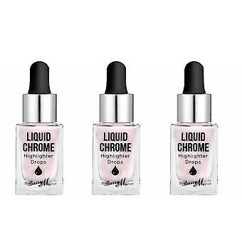 Barry M 3 X Barry M Liquid Chrome Highlight Drops - Precious Pearl