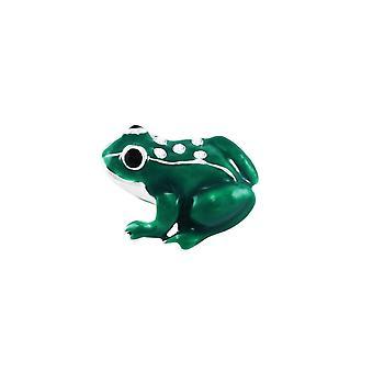 Eeuwige collectie Freddy de kikker groen glazuur zilveren Toon broche
