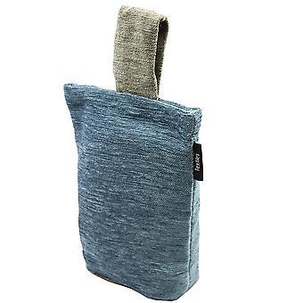Mcalister textiles alston chenille bleu - arrêt de porte beige