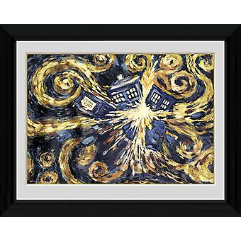 Doctor Who explodierende Tardis gerahmt Collector Print 40x30cm