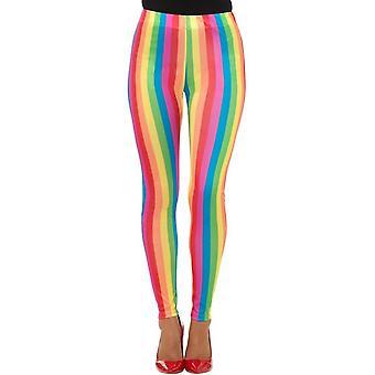 Rainbow Clown Leggings, Circus Fancy Dress, UK Size 8-10