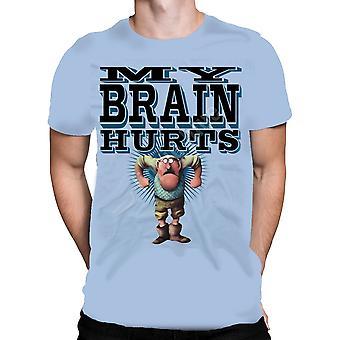 Vloeibare blauw-de Gumby van-korte mouwen t-shirt.