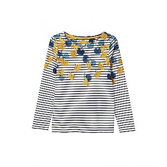 Joules Harbour Print mujer Jersey Top - Lilypad Border Stripe