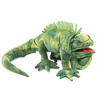 Hånd marionet-Folkmanis-Iguana nye dyr bløde dukke plys legetøj 2258